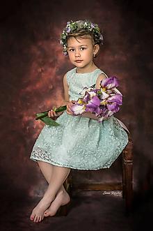 Ozdoby do vlasov - Romantický kvetinový venček z kolekcie LÚKA pre deti - 10762860_