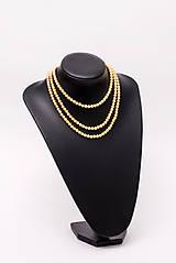 Náhrdelníky - perlový náhrdelník - shell perly (6mm dĺžka podľa vlastného želania - dĺžka do 51 cm) - 10761443_