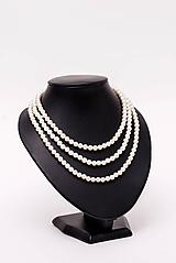 Náhrdelníky - perlový náhrdelník - shell perly (6mm perly dĺžka 41 cm) - 10761445_
