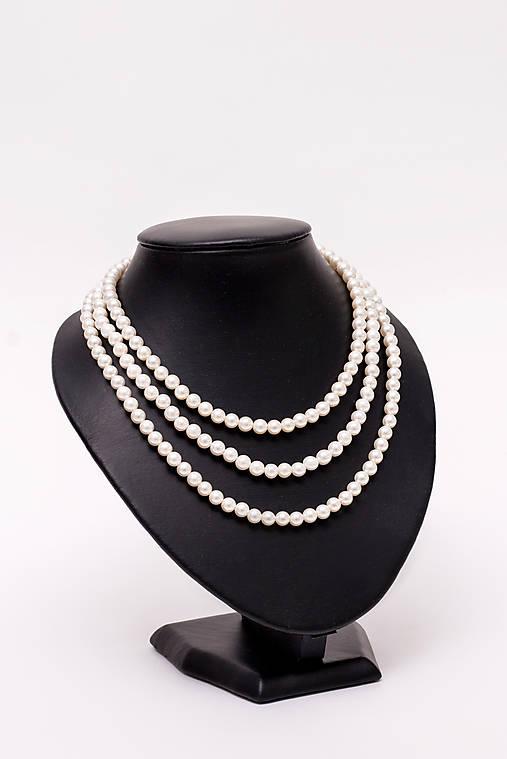 perlový náhrdelník - shell perly (6mm perly dĺžka 41 cm)