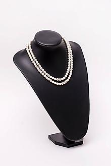 Náhrdelníky - perlový náhrdelník - shell perly (8mm perly dĺžka 51 cm) - 10761448_
