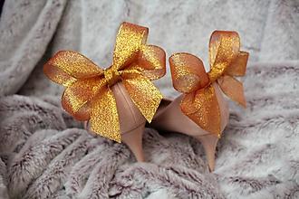 Obuv - Klipy na topánky zlaté - 10761611_