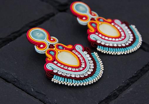 Farebné šujtášové náušnice so Swarovski kryštálmiDobrava