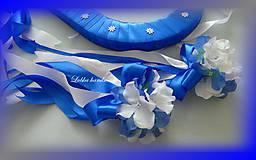 Dekorácie - Výzdoba svadobného auta kráľovská modrá - 10761363_