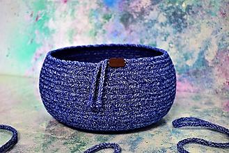 Košíky - Miska/košík modrá 177 - 10761105_