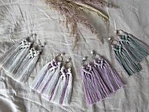 Náušnice - Makramé náušnice SIENNA (ružová/hnedá) - 10761898_