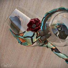 Nádoby - Makové kvety - sada pohárov na víno - 10762240_