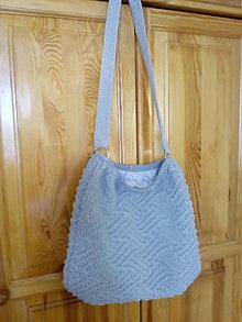 Nákupné tašky - Pletene  tašky - 10761843_