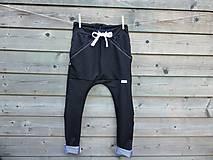 Detské oblečenie - Nohavice - pudláče, čierna jeansovina - 10761368_