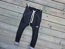 Detské oblečenie - Nohavice - pudláče, čierna jeansovina - 10761369_