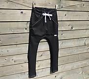 Detské oblečenie - Nohavice - pudláče, čierna jeansovina - 10761370_