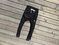 Detské oblečenie - Nohavice - pudláče, čierna jeansovina - 10761371_