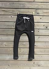 Detské oblečenie - Nohavice - pudláče, čierna jeansovina - 10761372_