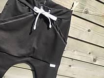 Detské oblečenie - Nohavice - pudláče, čierna jeansovina - 10761373_