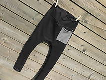 Detské oblečenie - Nohavice - pudláče, čierna jeansovina - 10761374_