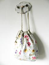 Veľké tašky - Zaťahovacia taška Lúčne kvety - 10762842_