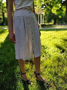 Sukne - Ľanová sukňa