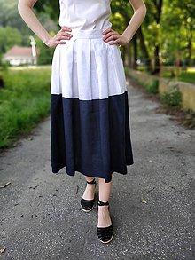 Sukne - Maxi ľanová sukňa veľ. 38 - 10762760_