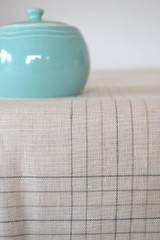 Úžitkový textil - Prírodný ľanovo-bavlnený obrus - 10761959_