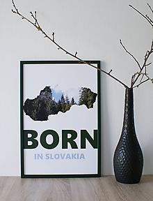 Grafika - Plagát na stenu Born in Slovakia - 10761789_