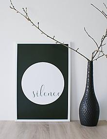 Grafika - Plagát Silence - 10762525_