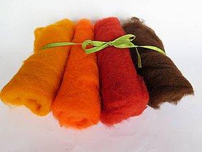 Textil - Mykaná vlna - sada ryšavá 100 g - 10762825_