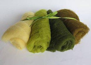 Textil - Mykaná vlna zelená - 100 g - 10762828_