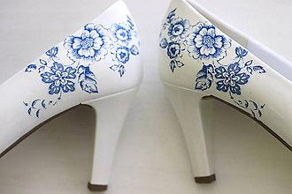 Obuv - cibuliačky - ručne zdobené svadobné lodičky - 10762564_