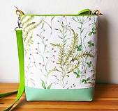 Kabelky - Lúčne kvety/10 v zelenom - 10761427_
