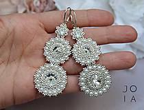 Náušnice - Svadobné náušnice Perličky III / Ag 925 so Swarovski kryštálmi - 10764274_