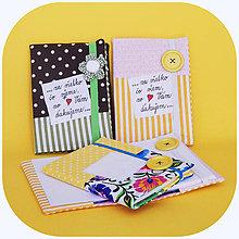 Papiernictvo - Zápisník - Pre pani učiteľku, vychovávateľku, či pre mamu ♥ - 10764601_
