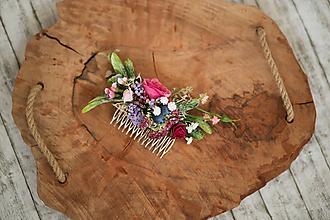 Ozdoby do vlasov - Kvetinový hrebienok do vlasov - 10765831_