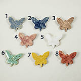 Odznaky/Brošne - Keramická brošňa motýľ 2 (motýľ č.5) - 10764230_