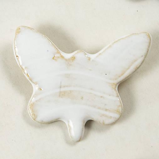 Keramická brošňa motýľ 2 (motýľ č.5)