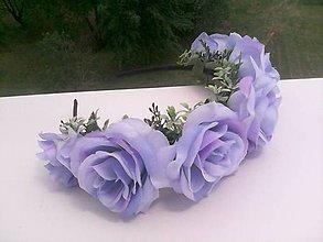 Ozdoby do vlasov - Kvetinová čelenka do vlasov ... modré nebo nad nami ... - 10763667_