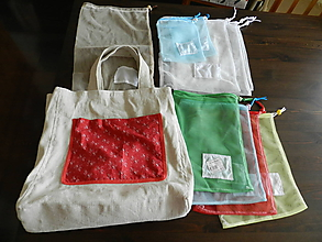 """Nákupné tašky - Veľká nákupná taška s potravinovými vreckami """"Zbohom mikrotén"""" - 10764413_"""