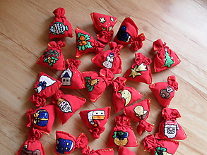 Dekorácie - voňavé vianočné vrecúško-veľký vianočný výpredaj (Červená) - 10763284_