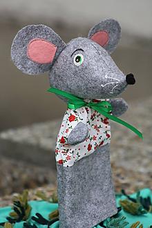 Hračky - Maňuška. Zvieratko Myška Matilda. - 10764856_