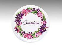 Darčeky pre svadobčanov - Svadobné buttony (odznaky) VENČEK 1 - 10764912_