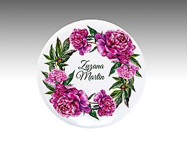 Darčeky pre svadobčanov - VEĽKÉ PIVONKY Svadobné buttony / odznaky - 10764829_