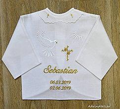 Detské doplnky - košielka na krst-vyšívaná - 10764450_