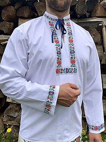 Oblečenie - Folklórna košeľa pánska Alojz 2 - 10765088_