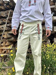Oblečenie - Pánske krojové nohavice v smotanovej - 10765119_