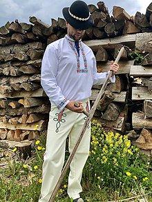 Oblečenie - Pánsky folklórny komplet košele a nohavíc - 10765204_