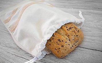 Úžitkový textil - Vrecúško na chlieb alebo iné pečivo - 10765510_