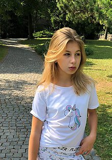 Tričká - Tričko Unicorn s krátkym rukávom - 10764258_