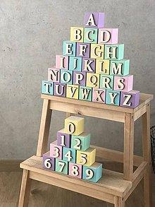 Hračky - Kocky - abeceda - 10763154_