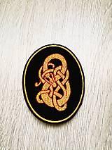 Galantéria - Vikingský drak nášivka - 10763972_