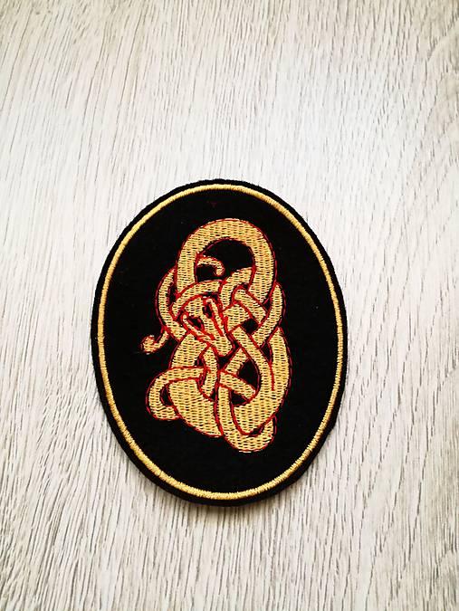 Vikingský drak nášivka