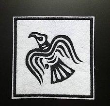 Galantéria - Odinov havran nášivka - 10764252_